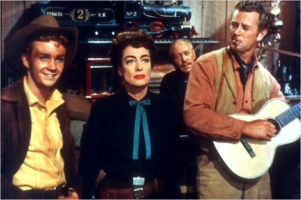 Johnny Guitar : foto Joan Crawford, Nicholas Ray, Sterling Hayden